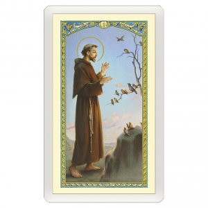 Holy cards: Holy card, Saint Francis and the birds, Prayer of Saint Francis ITA 10x5 cm