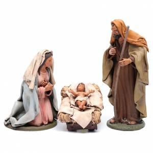 Terracotta Nativity Scene figurines from Deruta: Holy Family in terracotta 30cm Deruta