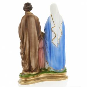 Holy Family statue in plaster, 40 cm s6