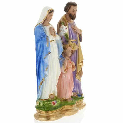 Holy Family statue in plaster, 40 cm s5
