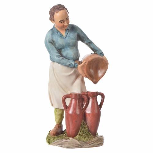 Hombre con ánforas para belenes de 30cm, resina s1