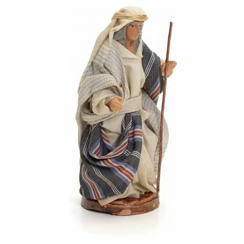 Homme arabe au bâton crèche Napolitaine 8 cm s2