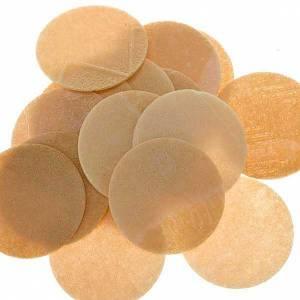 Partículas, hostias para misa: Hostia pan roja 500 pz.  Diám 3.5 cm.