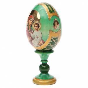 Huevos rusos pintados: Huevo ruso de madera découpage Smolenskaya  altura total 13 cm estilo Fabergé