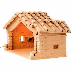 Krippe aus Terrakotta: Hütte für Krippe aus Terrakotta, Statue max 18cm hoch