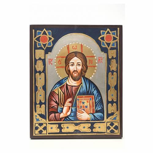 Icona Cristo Pantocratore decorata s1