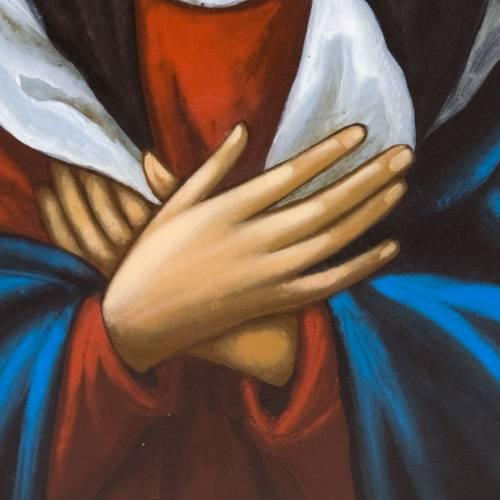 Icona dipinta russa Vergine Tenerezza Umilenie s3