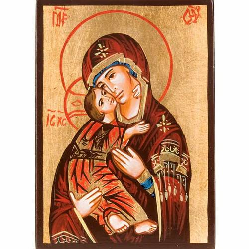 Icona Romania Madre Dio Vladimir dipinta a mano s1