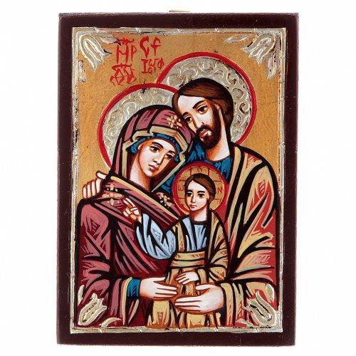 Icona rumena Sacra Famiglia dipinta s3