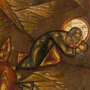 Icona russa antica Trasfigurazione sul Monte Tabor s4