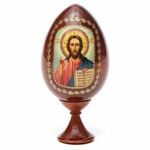 Uova russe dipinte: Icona Cristo Pantocratore stampata