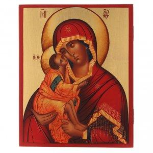Icone Russia dipinte: Icona russa Madonna di Don 21X16 cm
