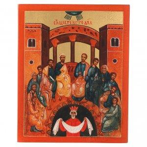 Icone Russia dipinte: Icona russa Pentecoste 14x10 cm