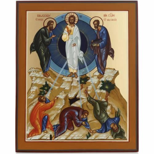 Icona Trasfigurazione di Gesù dipinta a mano Russia 22x27 s1