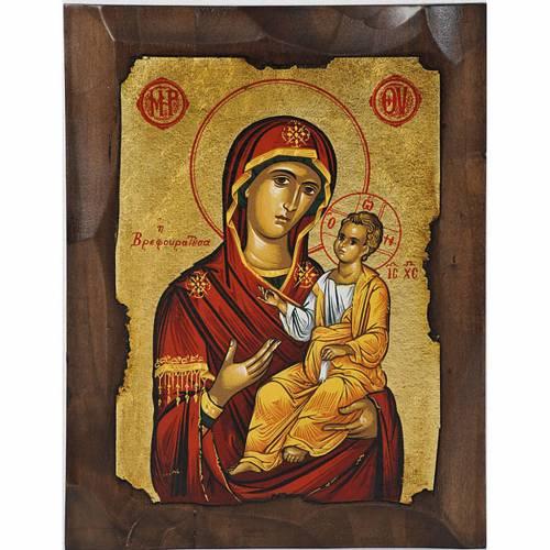 Icona Vergine Odighitria Grecia serigrafata s1