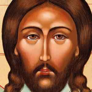 Icône Christ Mandylion avec décor s3