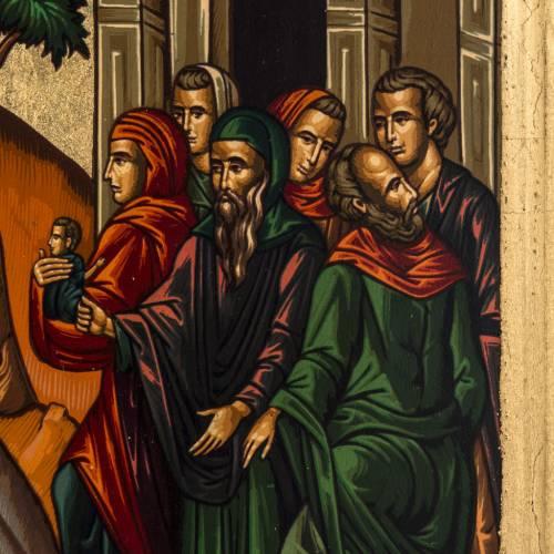 Icône Entrée à Jérusalem sérigraphie Grèce 31x24 cm s3