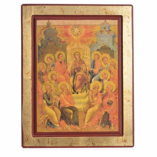 Icône grecque sérigraphiée Descente du Saint-Esprit s1