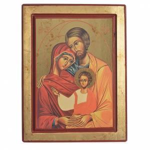 Icône grecque sérigraphiée Sainte Famille s1