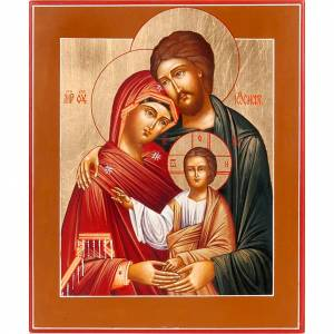 Icônes Russes peintes: Icône russe sainte famille