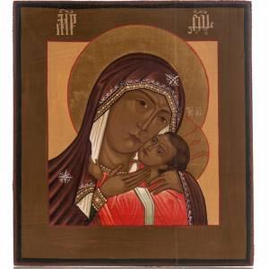 Icônes Russes peintes: Icône Russie Mère de Dieu de Korsun 20x17 cm