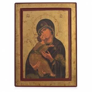 Icône sérigraphiée Grèce Vierge de Vladimir s1