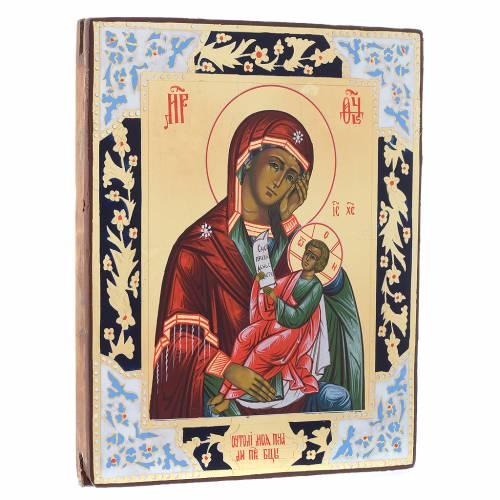 Icône Vierge Console Ma Peine peinte sur planche XIX siècle s3