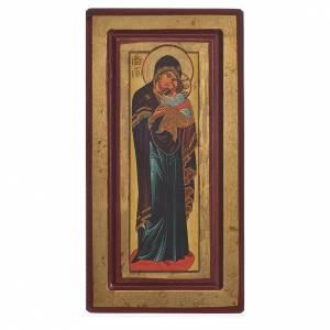 Icône Vierge Decani sérigraphie Grèce 13x24 cm s1