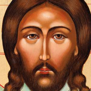 Icono del Cristo del Mandylion con decoración s3