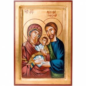 Handgemalte rumänische Ikonen: Ikone Heilige Familie Hand gemalt