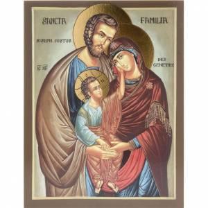 Holz, Stein gedruckte Ikonen: Ikone mit Druck Heilige Familie 26x20 cm