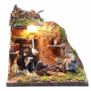 Neapolitan Nativity Scene: Illuminated cooper figurine for Neapolitan Nativity, 10cm