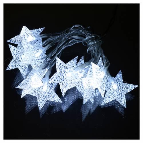 Illuminazione di Natale set 10 stelle led bianco ghiaccio s2