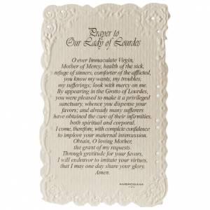 Image de dévotion en anglais Our Lady of Lourdes s2