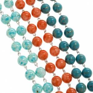 Imitation stone rosary, 6mm s5