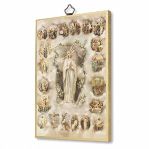Tableaux, gravures, manuscrit enluminé: Impression sur bois Les Mystères du Saint Rosaire