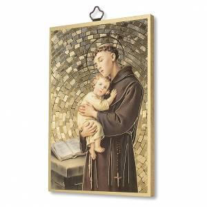 Tableaux, gravures, manuscrit enluminé: Impression sur bois St Antoine de Padoue