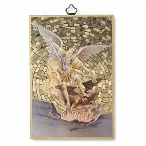 Tableaux, gravures, manuscrit enluminé: Impression sur bois St Michel Archange