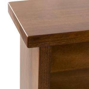 Inginocchiatoio in legno noce verde s5