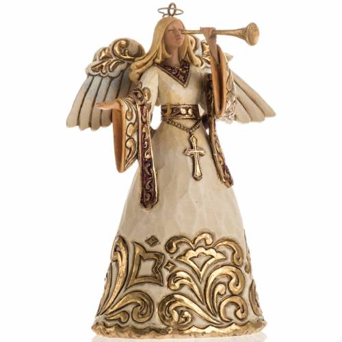 Ivory and Gold colour Angel Hanging Ornament by Jim Shore s1