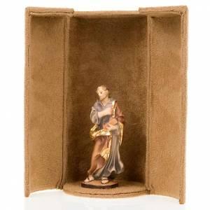 Jesus and saints bijoux statue with niche s5