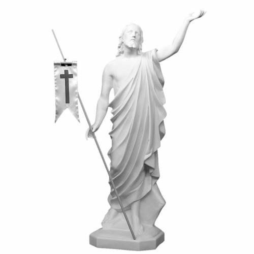 Jesús Resucitado 130 cm. fibra de vidrio blanca s1