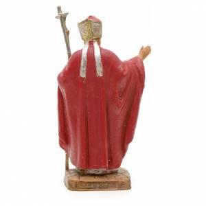 Statuen aus Harz und PVC: Johannes Paul II rote Kleidung 7cm, Fontanini