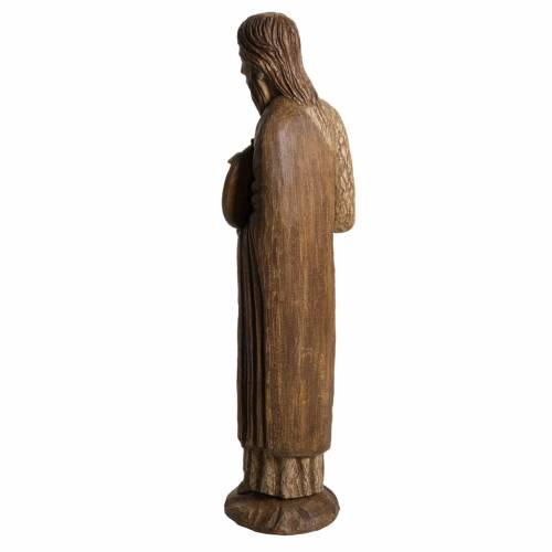 John the Baptist of Chartres statue in painted Bethléem wood, 7 s4