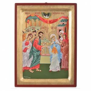 Joseph and Mary's wedding painted icon, 31x23cm s1