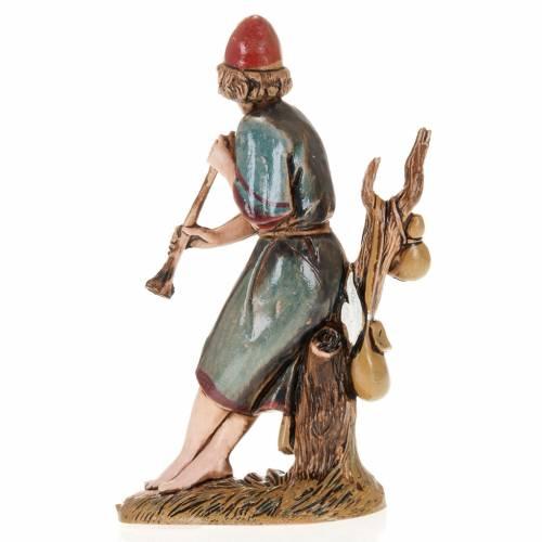 Joueur de flute et arbre crèche Moranduzzo 10 cm s2