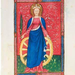 Bilder, Miniaturen, Drucke: Katharina von Alexandrien Bilderhandschrift.