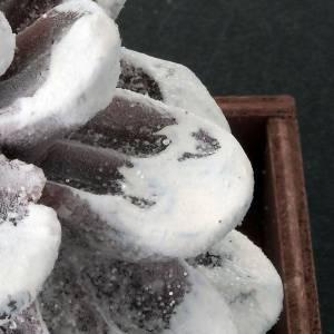 Weihnachtskerzen: Weihnachtskerze Zapfen mit Schnee darauf