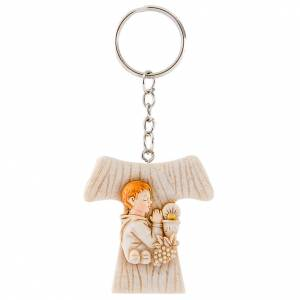 Bonbonnière: Key Ring Tau Boy First Communion 4cm