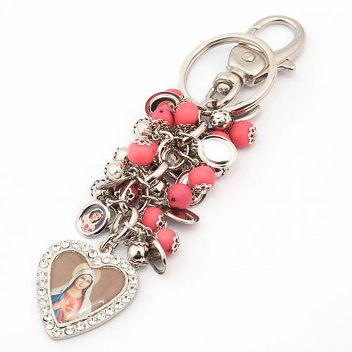 Key-ring with heart-shaped charms s2